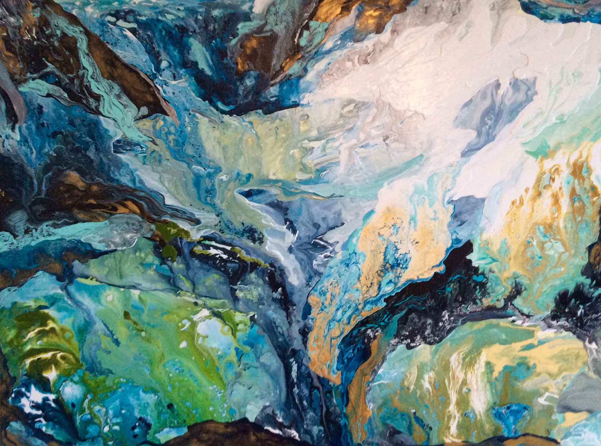 Storm Watching West Coast by Diana Zoe Coop | abstract acrylic on canvas 36in x 48in