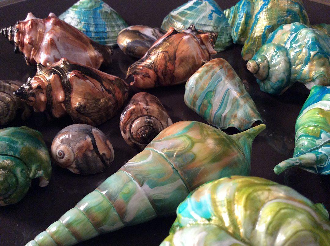 Ode To Bridgerton detail of painted seashells | by Diana Zoe Coop