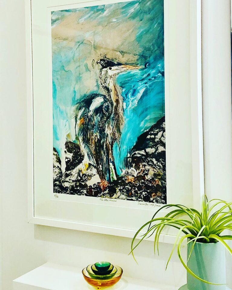 Abstract art collection by North Vancouver artist Diana Zoe Coop | Limited Edition Prints | The Blue Heron | Installed