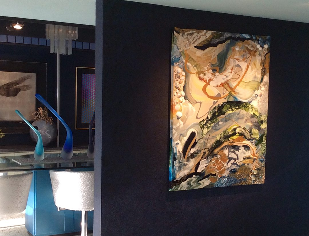Abstract art collection by North Vancouver artist Diana Zoe Coop | The Winter Of Our Days | portrait view