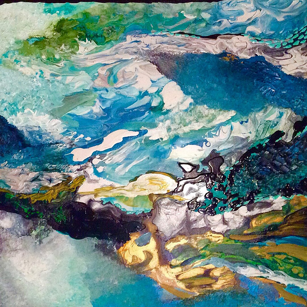 Abstract art collection by North Vancouver artist Diana Zoe Coop | Smokey Blue Note