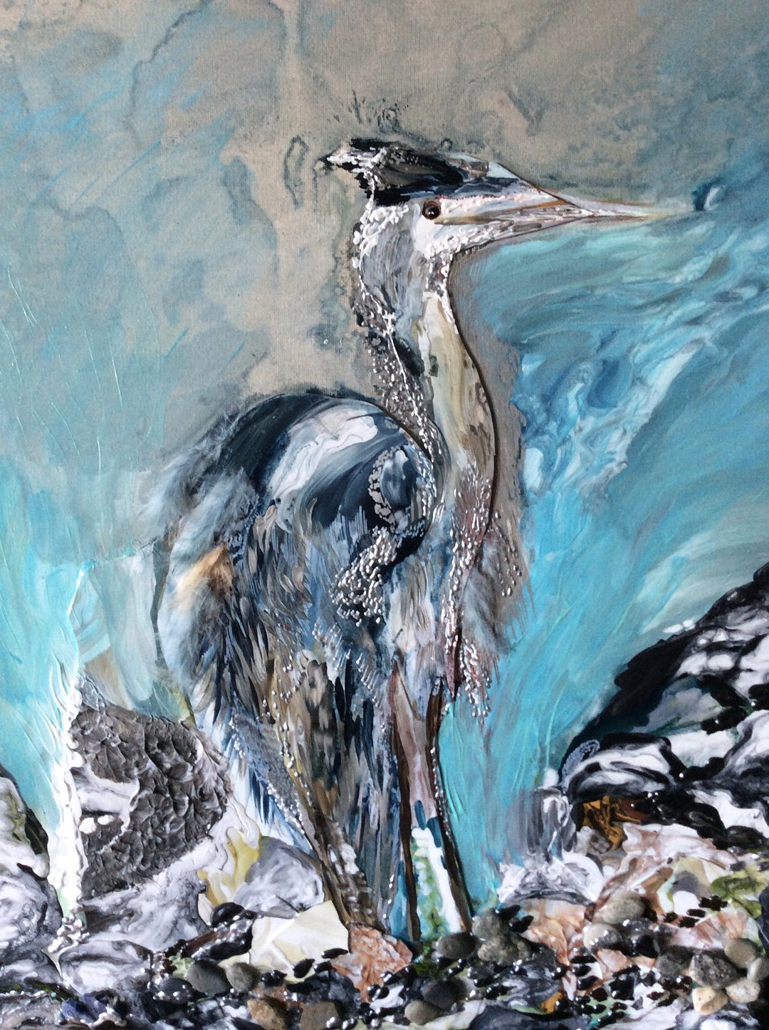 Abstract art collection by North Vancouver artist Diana Zoe Coop | Limited Edition Prints available | The Blue Heron