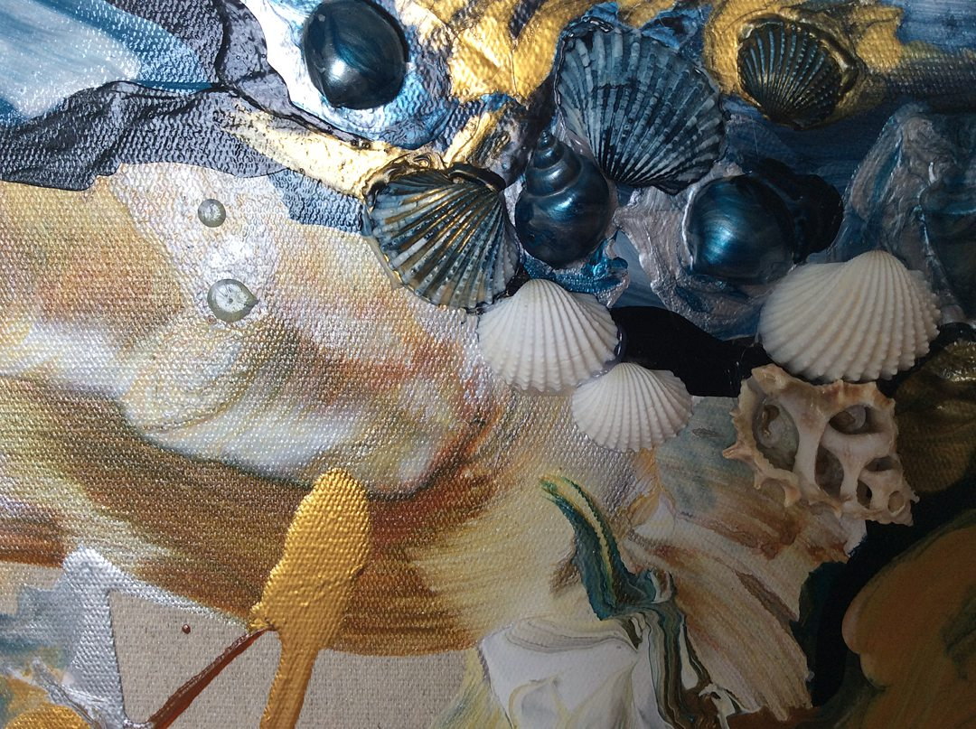 Abstract art collection by North Vancouver artist Diana Zoe Coop | The Winter Of Our Days | Detail B