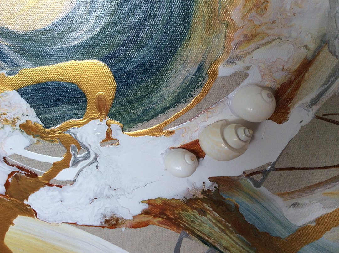 Abstract art collection by North Vancouver artist Diana Zoe Coop | The Winter Of Our Days | Detail C