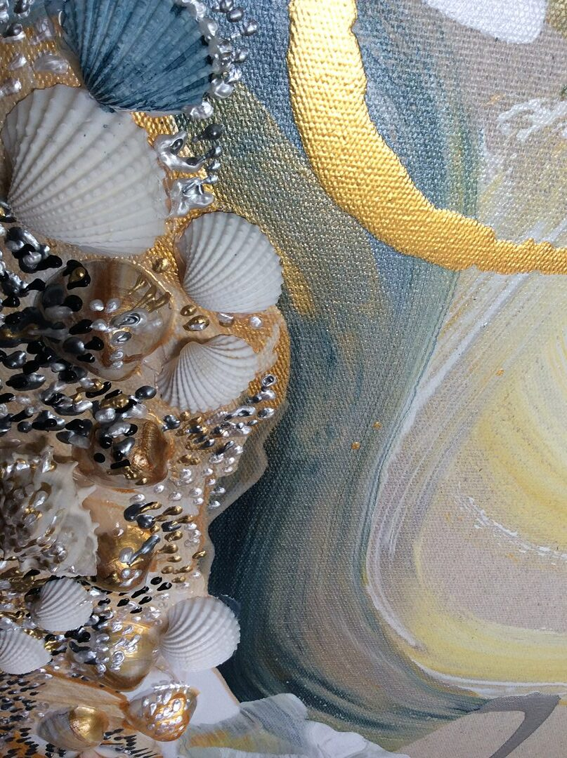 Abstract art collection by North Vancouver artist Diana Zoe Coop | The Winter Of Our Days | Detail D