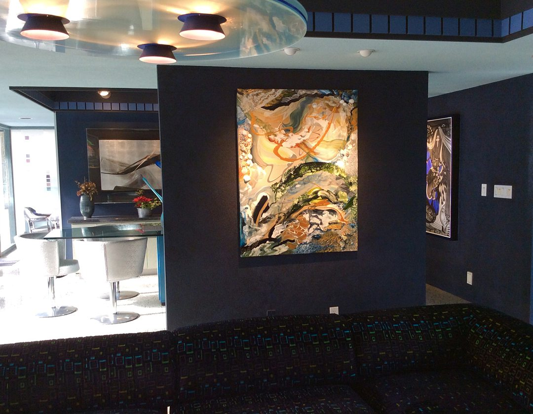 Abstract art collection by North Vancouver artist Diana Zoe Coop | The Winter Of Our Days | interior view