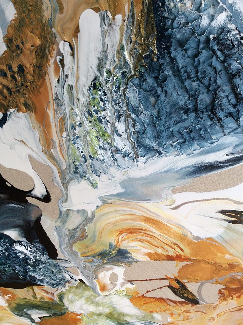 Abstract art collection by North Vancouver artist Diana Zoe Coop | Weightless | Detail A