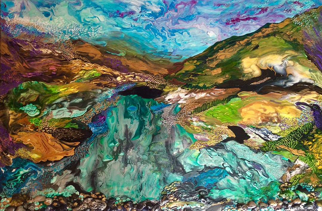 The Long Road Home | Abstract landscape by Diana Zoe Coop